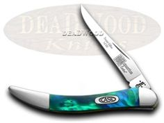CASE XX Aquarius Genuine Corelon 1/500 Toothpick Knife - CA910096AQ | 910096AQ - 026615306634