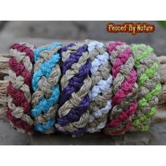 Image Detail for - Hemp Sailor Knot Braided Rope Multi Color Bracelet - Hemp