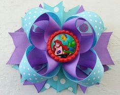 Ariel Inspired Hair Bow -Little Mermaid Hair Bow -Disney Princess Ariel Inspired Hair Bow