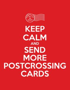 Keep Calm & Send More Postcrossing Cards by RowesAndColumns, $1.00