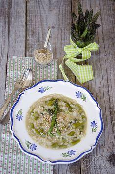 risotto agli asparagi, pecorino e nocciole by Elisakittys Kitchen