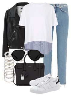 """""""Untitled #2329"""" by annielizjung ❤ liked on Polyvore featuring Acne Studios, Forever 21, Topshop, Yves Saint Laurent, adidas Originals and 3.1 Phillip Lim"""