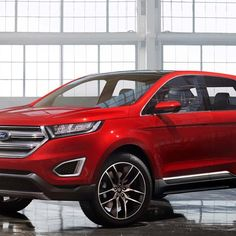 """Ford officially unveiled a new concept car at the LA Auto show this week called the Ford Edge Concept. Ford says that the new concept car offers """"strong hints"""" Ford Edge Suv, 2016 Ford Edge, Ford Lincoln Mercury, Car Images, Car Photos, Stars News, Crossover Suv, Advanced Driving, Hybrid Design"""