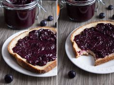 Blueberry Chia Jam. 4 ingredients, 20 minutes, loaded with antioxidants, vitamins, and minerals!