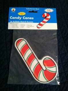 "Lot of 1: Carson Dellosa ""Candy Canes"" Bulletin Board Cut Outs (36 PK )Teachers 