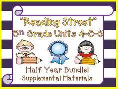 Reading Street 5th Grade - This bundle contains a variety of activities for each lesson in Units 4, 5, and 6 from the fifth grade Reading Street book. These activities are designed to teach, re-teach, practice, or assess the lessons taught in these units. $