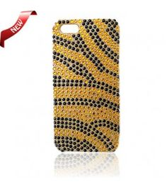 iPhone 5 Cases : Bling Case Zebra Gold and Black