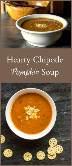 This recipe for hearty chipotle pumpkin soup is a nice mix of sweet and spicy. You can make it with either fresh or canned pumpkin.
