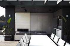 Brighton - Outdoor living space with kitchen, fireplace and concealed TV make this the perfect retreat all year round.