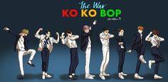 Fanart EXO kokobop discovered by saraleekim on We Heart It