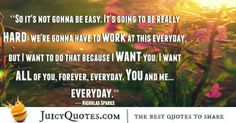 Cute Love Quote - Nicholas Sparks