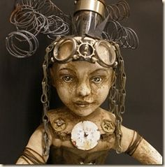 Steampunk Art doll by Clarissa Callesen.... I don't usually like dolls, but I would love to own this one!