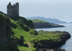 Gylen Castle on the island of Kerrera, Argyll and Bute, Scotland. Built in 1582 CE, Gylen Castle was once home to members of Clan MacDougall. It was occupied only for a short period of time, until it was sacked in 1647 CE by Covenanter General David Leslie during the Wars of the Three Kingdoms.