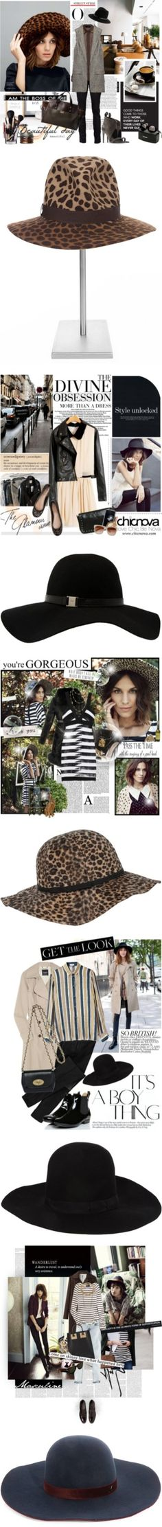 """Hats What She Said: Alexa Chung's Amazing Head-Toppers"" by polyvore-editorial ❤ liked on Polyvore"