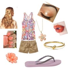 casual coral n purp, created by lilnelson707.polyvore.com