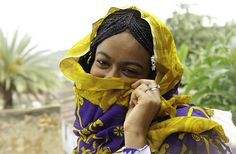 Africa | A young Harari woman. Harar, Ethiopia | © Georges Courreges.