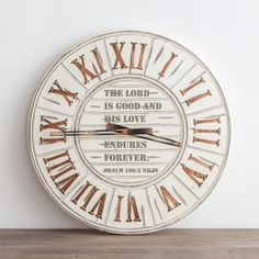 Attraktiv His Love Endures Forever   Wall Clock
