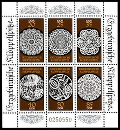 Buy and sell stamps from DDR. Meet other stamp collectors interested in DDR stamps. German Stamps, Sell Stamps, Stamp Catalogue, Going Postal, Postage Stamp Art, Textiles Techniques, Lacemaking, Vintage Handkerchiefs, Silk Ribbon Embroidery