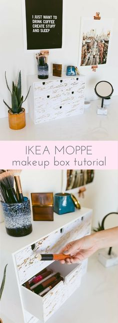 The IKEA MOPPE is back! And a Makeup Box tutorial http://www.ikeahackers.net/2017/10/ikea-moppe-back-makeup-box-tutorial.html