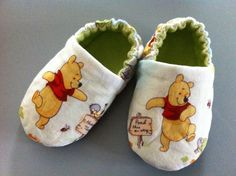 Winnie the Pooh baby shoes by KissesSewSweet on Etsy, $18.00