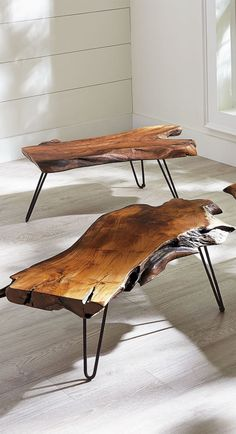 Feast your eyes on our extraordinary Teak Coffee Table. Each one is utterly unique, since it is made from a single piece of natural wood. Hand-selected for its distinctive shape and exquisite beauty, each block of wood is transformed into a functional work of art that is sure to spark conversation in your home.