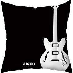 Checkerboard, Ltd Rock Star Personalized Polyester Throw Pillow (€37) ❤ liked on Polyvore featuring home, home decor, throw pillows, pillows, black, black toss pillows, personalized throw pillows, patterned throw pillows, embroidered throw pillows and black throw pillows