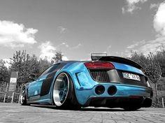 Visit The MACHINE Shop Café... ❤ Best of Audi @ MACHINE... ❤ (Blue Chrome Audi R8 V10 Coupé)
