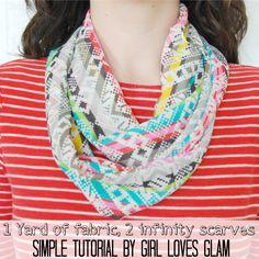 Easy DIY Infinity Scarf tutorial by Girl Loves Glam