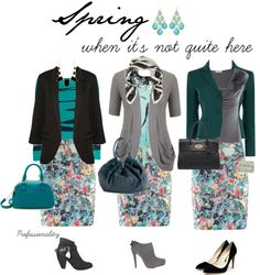 """""""Spring when it's not quite here"""" by professionality ❤ liked on Polyvore"""