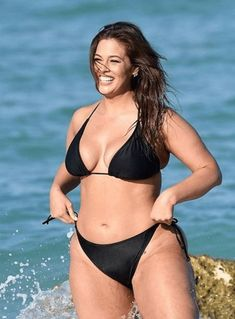 Bikini-clad Ashley Graham hits the beach for sexy swimsuit collection shoot Ashley Graham, Bikini Clad, Hot Bikini, Graham Model, Target, Odense, Two Piece Swimsuits, Plus Size Fashion, Bikinis