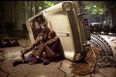 "Eva Green, Michael Pitt & Louis Garrel photographed by Séverine Brigeot #on_the_set of ""The Dreamers"", 2003"