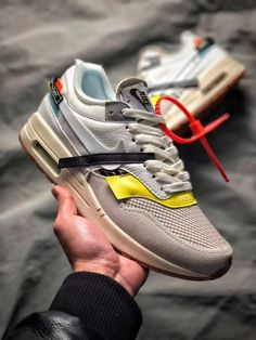 outlet store ba7a3 e23fc Off-White Nike Air Max 1 BespokeIND Mens Free Shipping  WhatsApp 8613328373859
