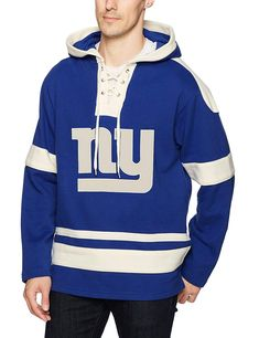 Amazon.com   OTS NFL Adult Men s Grant Lace Up Pullover Hoodie   Sports    Outdoors d81a9aec4