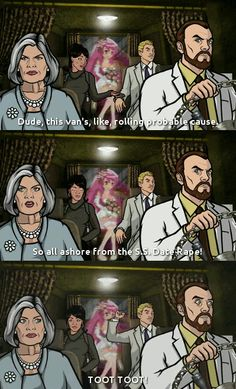 """Krieger's US Date rape There are 2 mandatory words for describing """"Archer"""": inappropriate & hilarious. Archer Tv Show, Archer Fx, Archer Funny, Archer Quotes, Sterling Archer, Spy Shows, Dinosaur Movie, Danger Zone, Tv Show Quotes"""