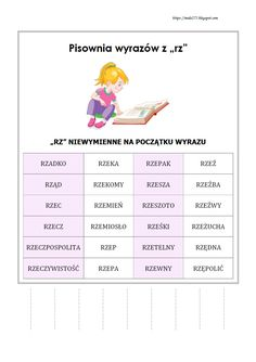BLOG EDUKACYJNY DLA DZIECI Learn Polish, Polish Language, Secondary School, Poland, Classroom, Lettering, Education, Learning, Books