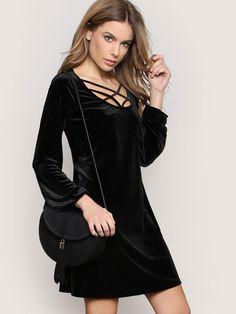 Night Shimmer Mini Dress - Black - Gypsy Warrior