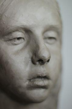 """Adam Pyś Sculpture Portrait in the clay  """"Anna"""" 2016"""