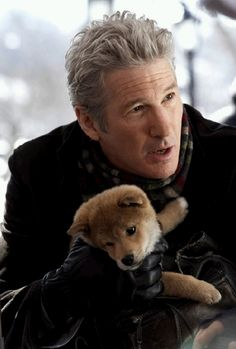 Hachi: A Dog's Tale, Richard Gere If Hachi: A Dog's Tale , about the bond between a professor (Richard Gere) and a lost Akita puppy, doesn't get you weepy, nothing will. See what else made EW's list of the best movies you've never seen and start renting Sad Movies, Great Movies, I Movie, Movie Stars, Richard Gere, Beau Film, Akita Puppies, Akita Dog, Hot Men