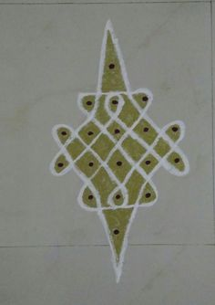 Simple Dots /Pulli Kolam!!  I have used 5 - 2 dots to draw this kolam.  This is so simple, that begginer's can also try.