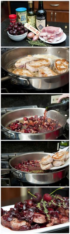 Boneless pork chop recipes red wine