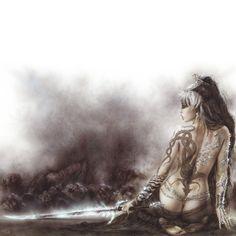 Luis Royo Wallpaper 800 x 600 Jessica Jones, Led Zeppelin No Quarter, Comics Gratis, Art Beauté, Wolf, Traditional Witchcraft, Luis Royo, Goth Aesthetic, Spanish Artists