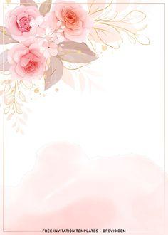 Baby Shower Background, Flower Background Wallpaper, Flower Backgrounds, Watercolor Background, Floral Watercolor, Watercolor Wallpaper Iphone, Phone Wallpaper Design, Framed Wallpaper, Frame Floral