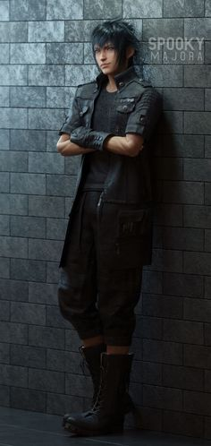 tsundergay — Here's a Noctis render that Final Fantasy Cosplay, Noctis Final Fantasy, Final Fantasy Characters, Final Fantasy Art, Video Game Characters, Fantasy Series, Final Fantasy Xv Wallpapers, Noctis Lucis Caelum, Final Fantasy Collection