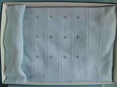 copertine di lana ai ferri - Copertina azzurra