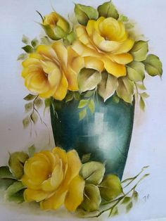 FLORES Tole Painting, Fabric Painting, Watercolor Flowers, Watercolor Paintings, Decoupage Jars, Mexican Artwork, Colored Pencil Artwork, Canvas Painting Tutorials, Flower Art