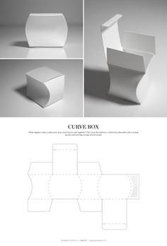 Curve Box – FREE resource for structural packaging design dielines