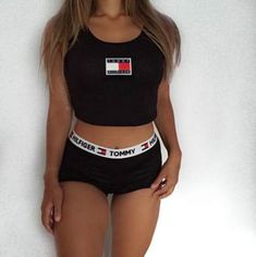 Reworked Tommy Hilfiger cami crop vest top by Bonniebrazil on Etsy Tommy Hilfiger Outfit, Tommy Hilfiger Crop Top, Tommy Hilfiger Women, Look Fashion, Teen Fashion, Fashion Outfits, Outfits For Teens, Summer Outfits, Cute Outfits
