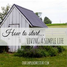 How to Start Living a Simple Life - We have learned that living simple really isn't simple at all. It took some time for us to learn how to slow down and find ways to simplify our life. #simpleliving http://oursimplelife-sc.com/?utm_content=buffer6e5c7&utm_medium=social&utm_source=pinterest.com&utm_campaign=buffer