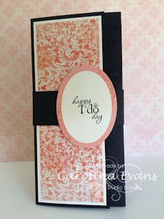 Venetian Romance DSP, Wedding Money Card,I do stamp,Trifold Card, Stampin' Up! a creation by Carolina Evans