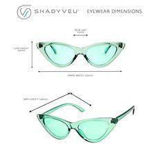 1b81b4a986dd4 ShadyVEU Womens Retro Exaggerated Slim Candy Color Tint Translucent Cat Eye  Sunglasses Blue Blue --